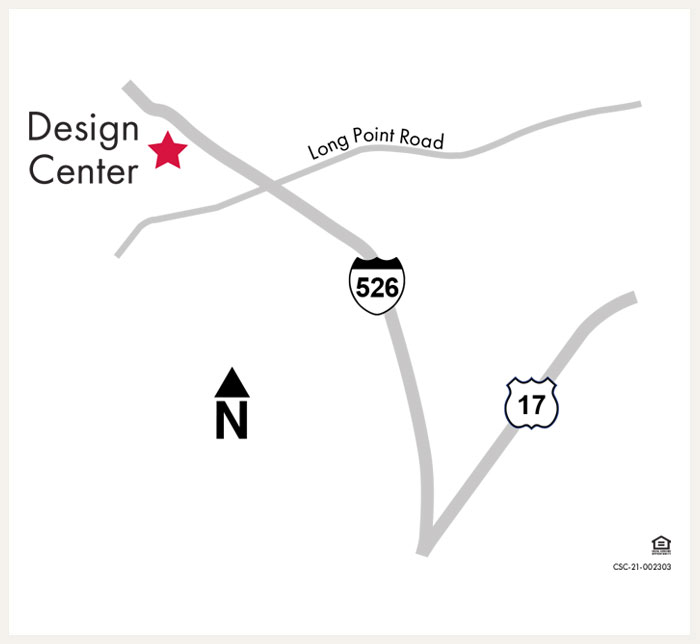 Design Center Map for Charleston, SC