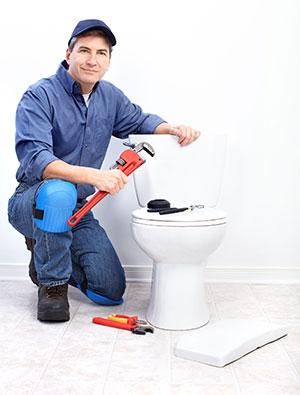 fixing a toilet