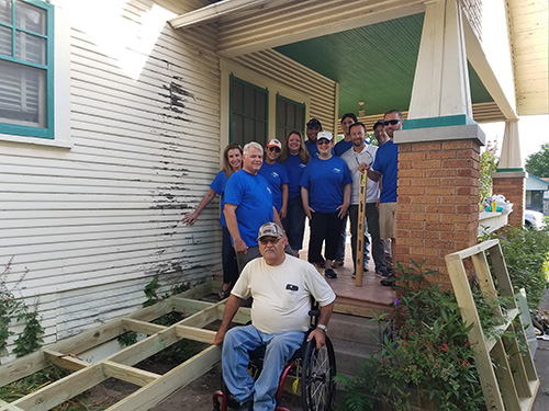 David Weekley Homes Team Members Build Wheelchair Ramps