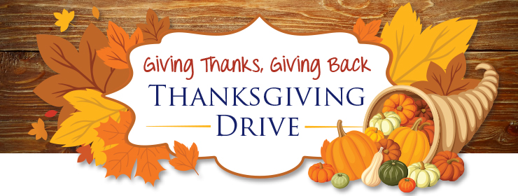 Giving Thanks, Giving Back - Thanksgiving Drive