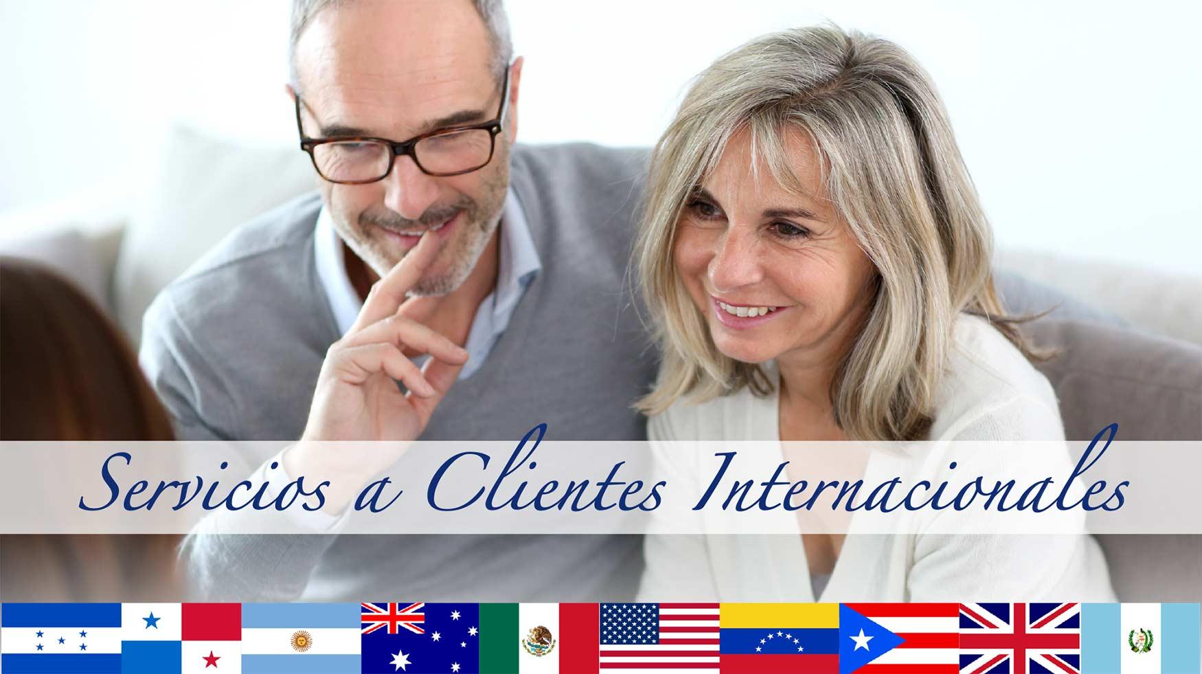 Servicios a Clientes Internacionales!