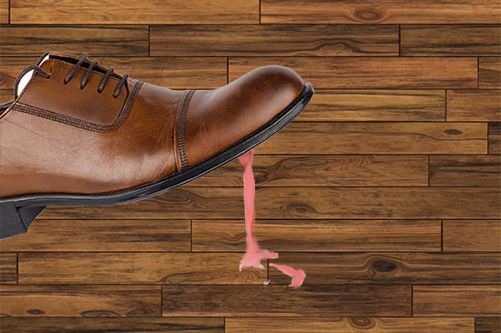 Gum on Hardwood Floor