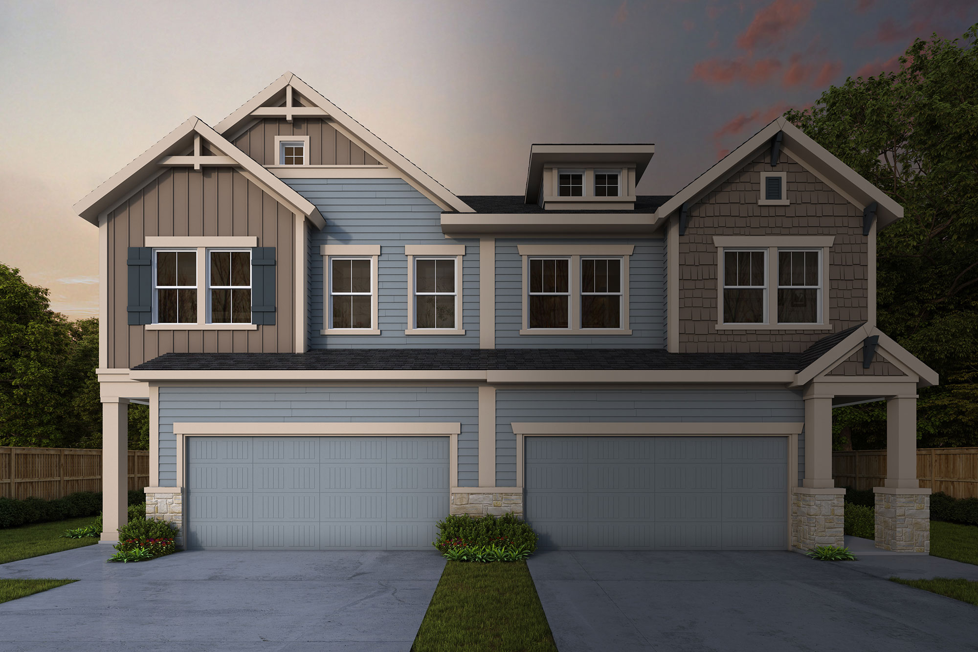 The Maplewood in Villa Heights - Paired Home Collection