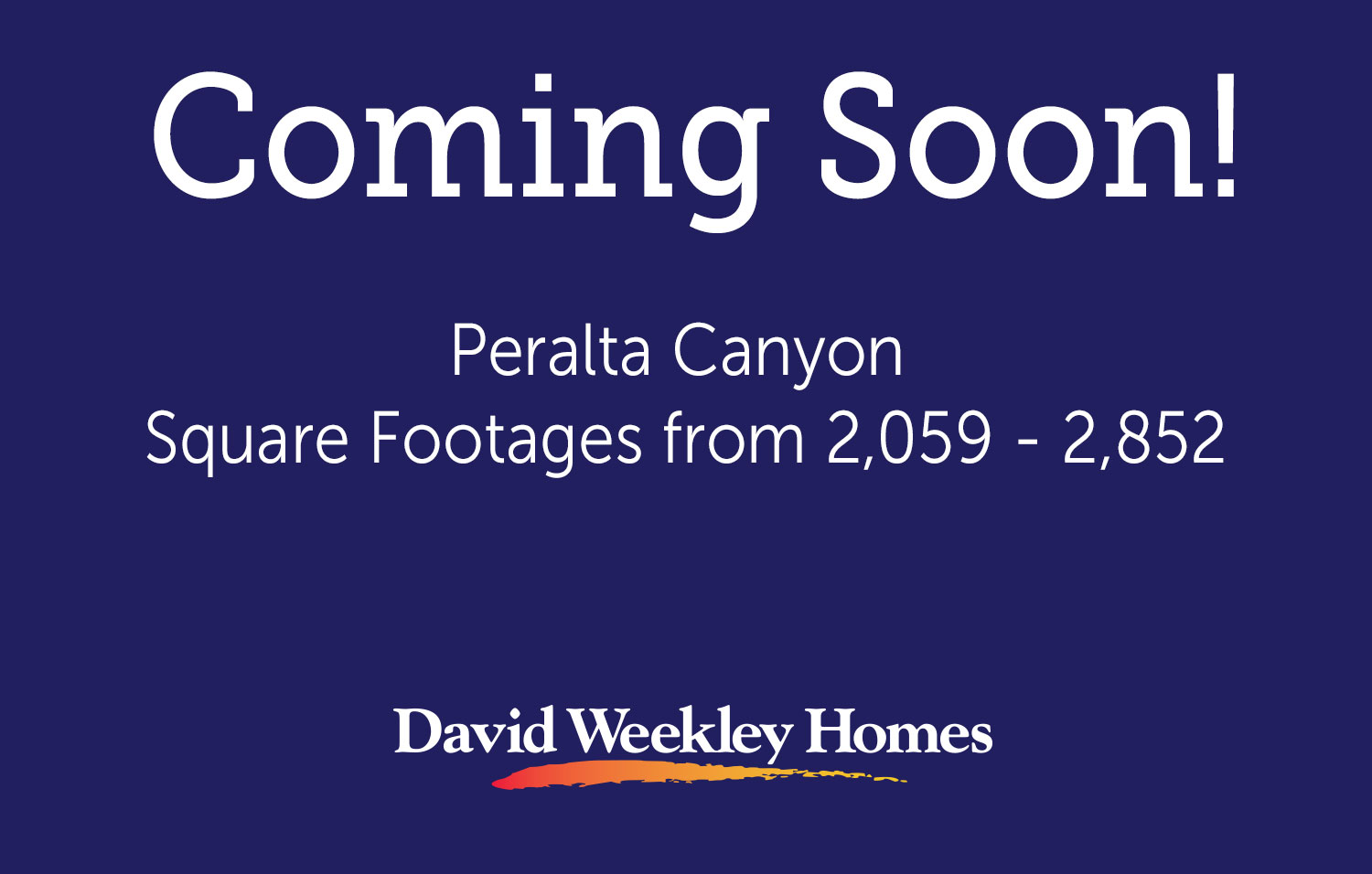 Peralta Canyon - Coming Soon