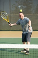 Playing Tennis at Jordan Ranch