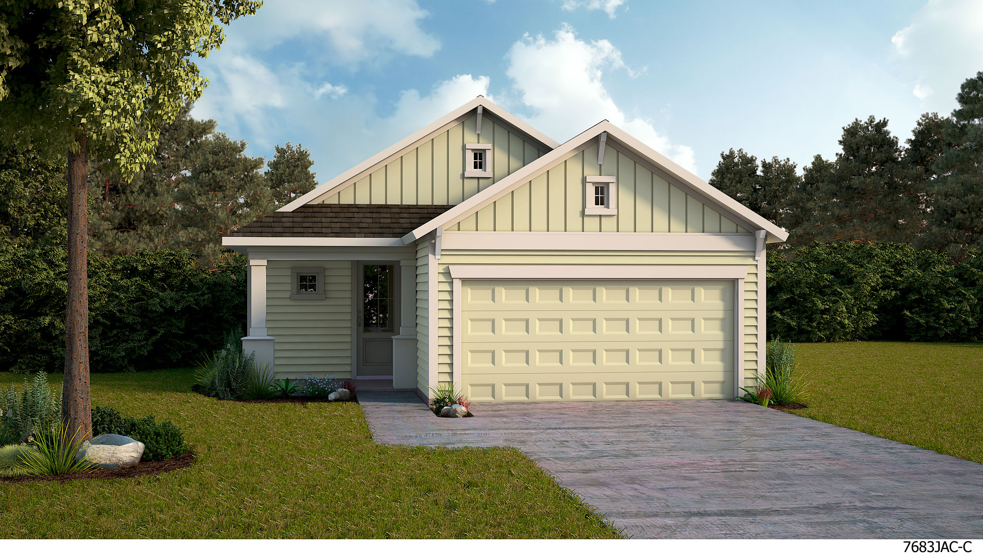 The Atwood - A Exterior & David Weekley Homes